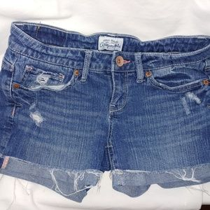 Aeropostale distressed shorts